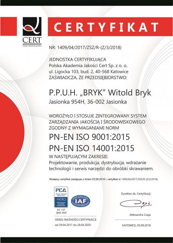 Dyplom ISO